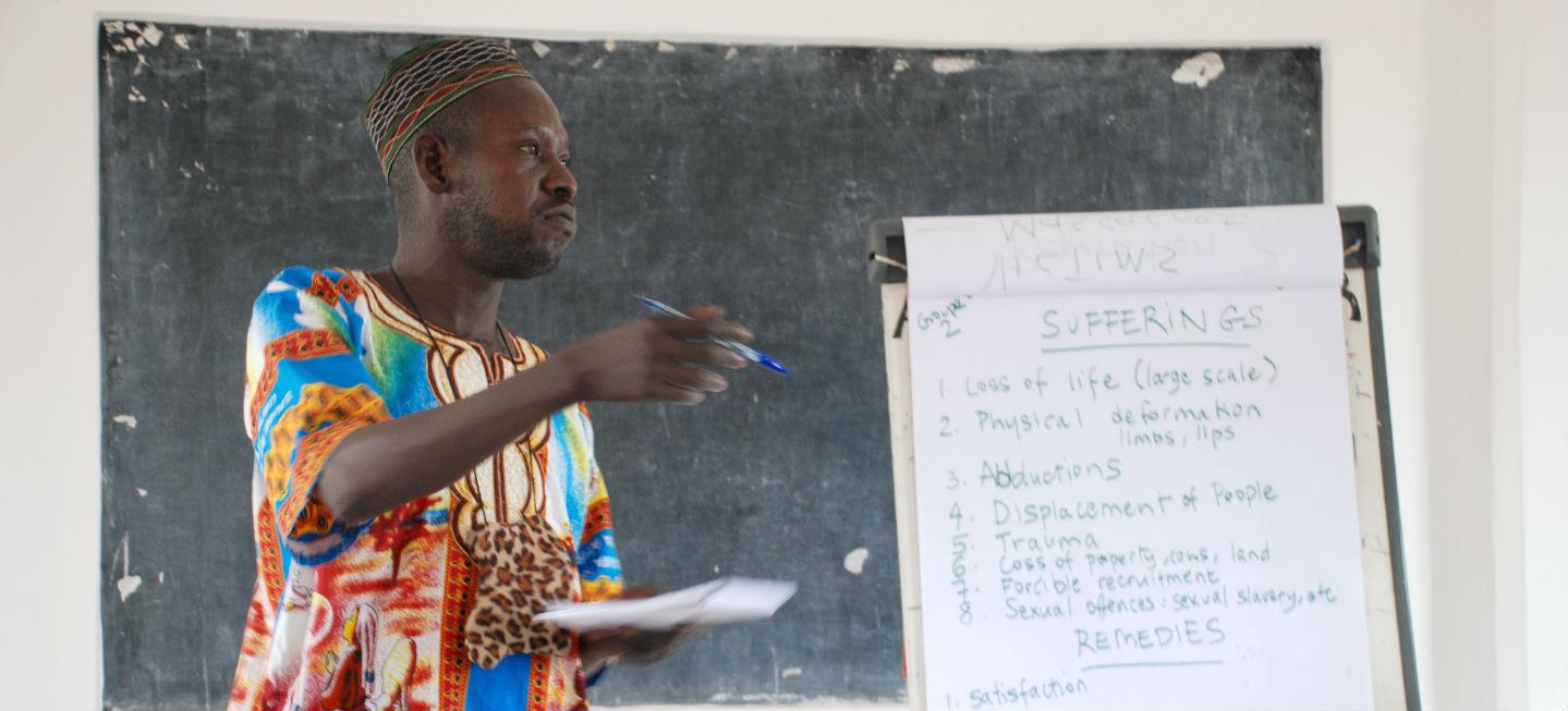Man giving a workshop