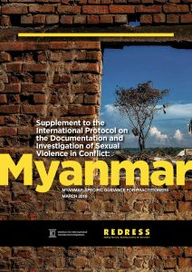 Cover of Myanmar report on sexual violence