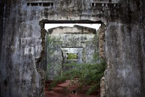 Abandoned homes in Sri Lanka