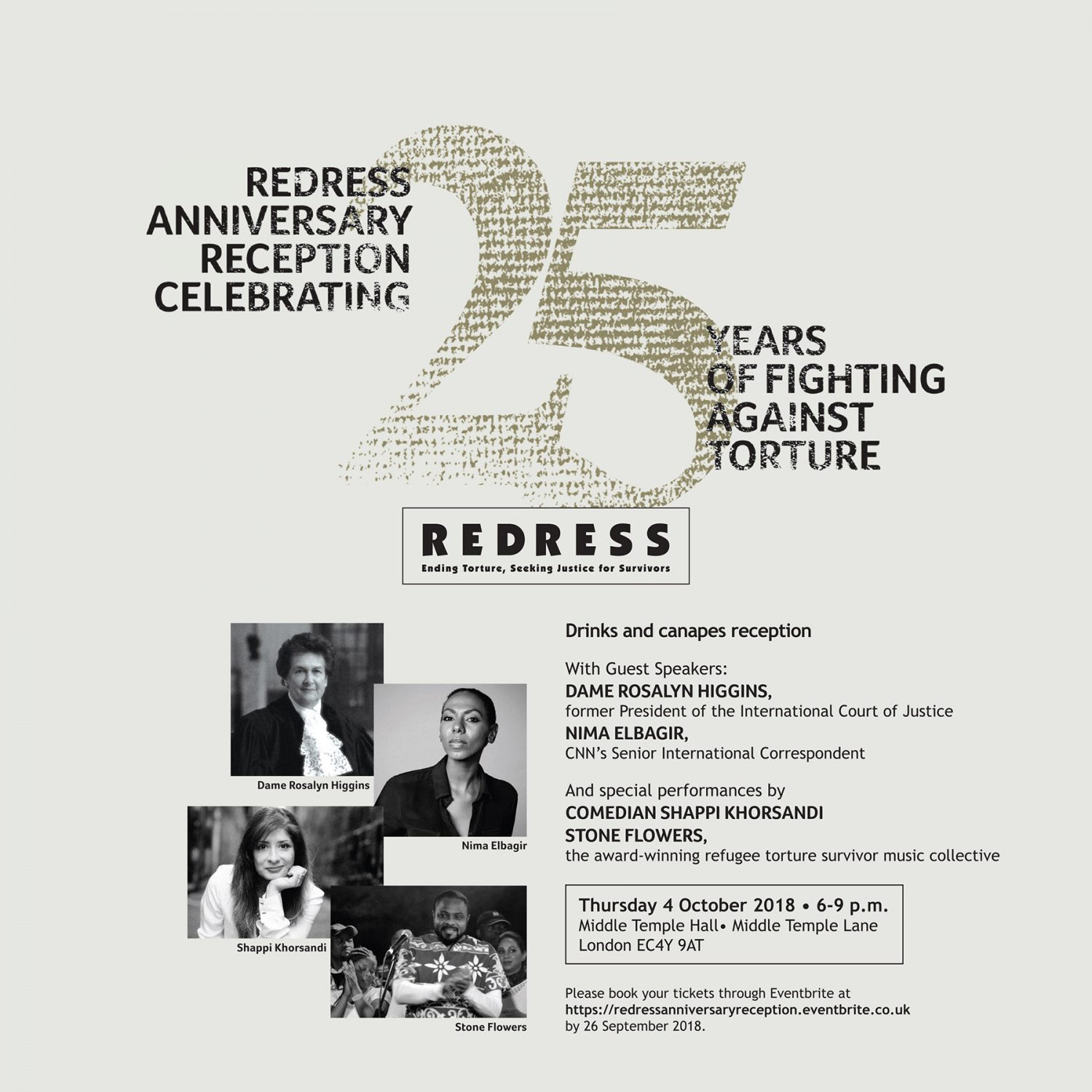 REDRESS' Anniversary Reception celebrating 25 Years of