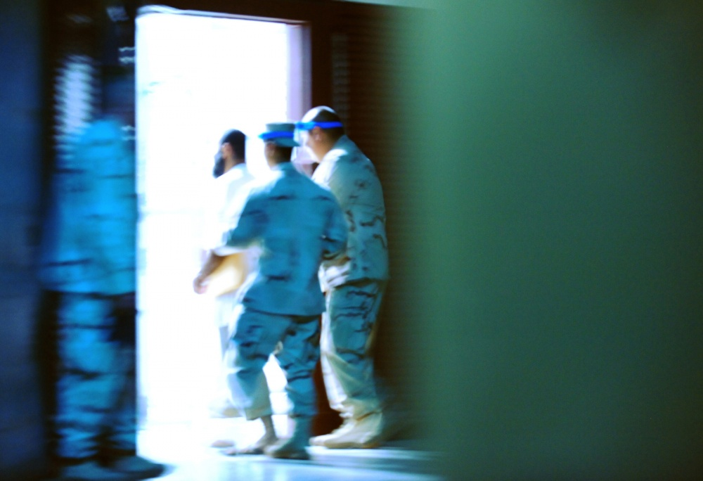 Detainee in Guantanamo Bay.
