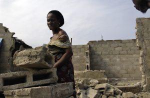 Victim of the Civil War in Liberia.