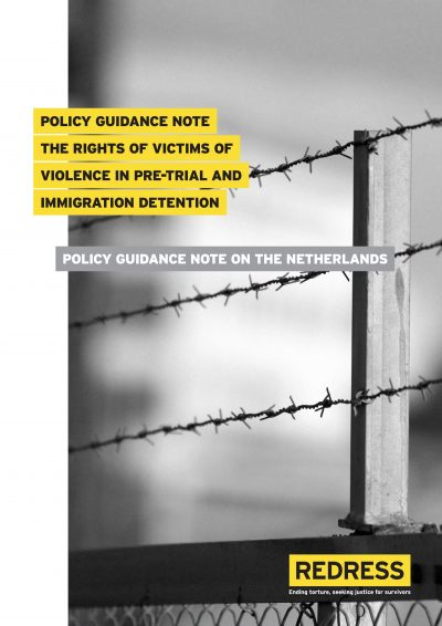 Cover of Policy Guidance on the Rights of Victims of Violence in Pre-Trial and Immigration Detention