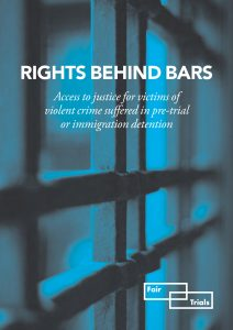 Cover of the report Rights Behind Bars