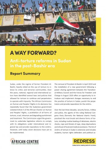 Cover of the Summary Report of the A Way Forward report