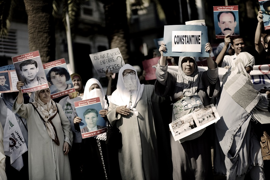 Protest by families of the disappeared in Algeria