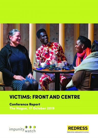 Cover of the Victims Front and Centre Conference report