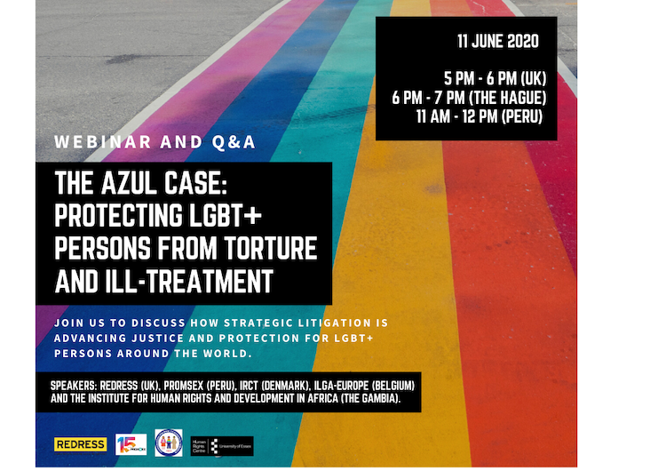 Webinar and Q&A, 11 June, 5-6 PM: The Azul Case, Protecting LGBT+ Persons from Torture and Ill-Treatment