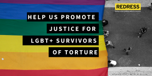 Banner of the crowdfunding campaign Justice for LGBT+ Survivors of Torture