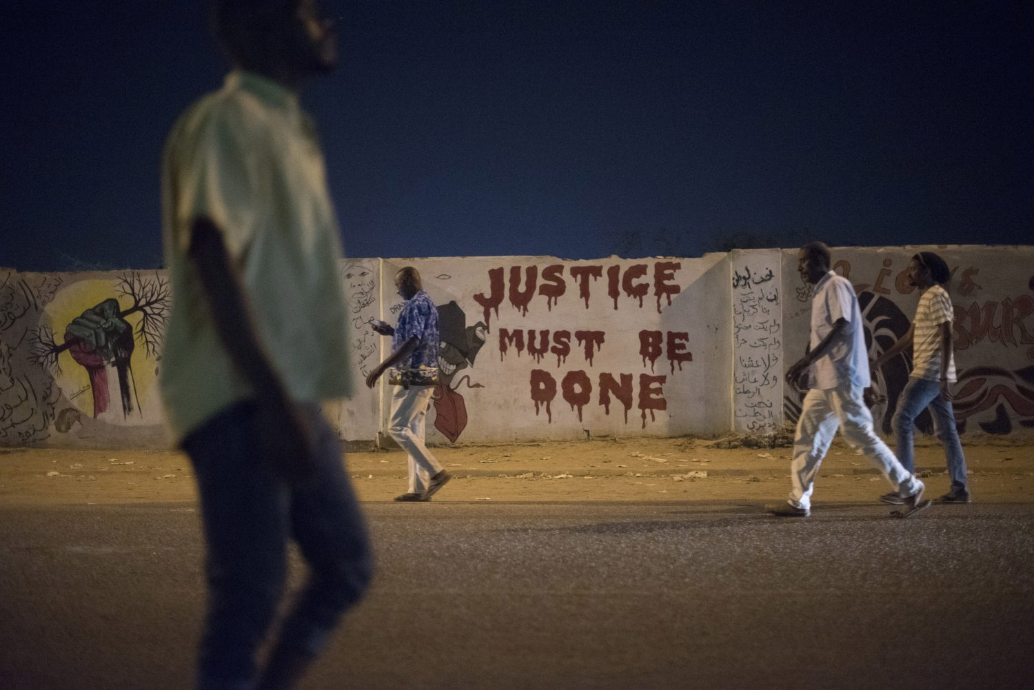 Citizens in Sudan during citizen's protests