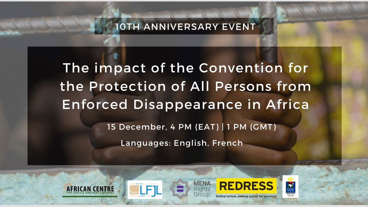 Webinar: The Impact of the Convention for the Protection of All Persons from Enforced Disappearance in Africa