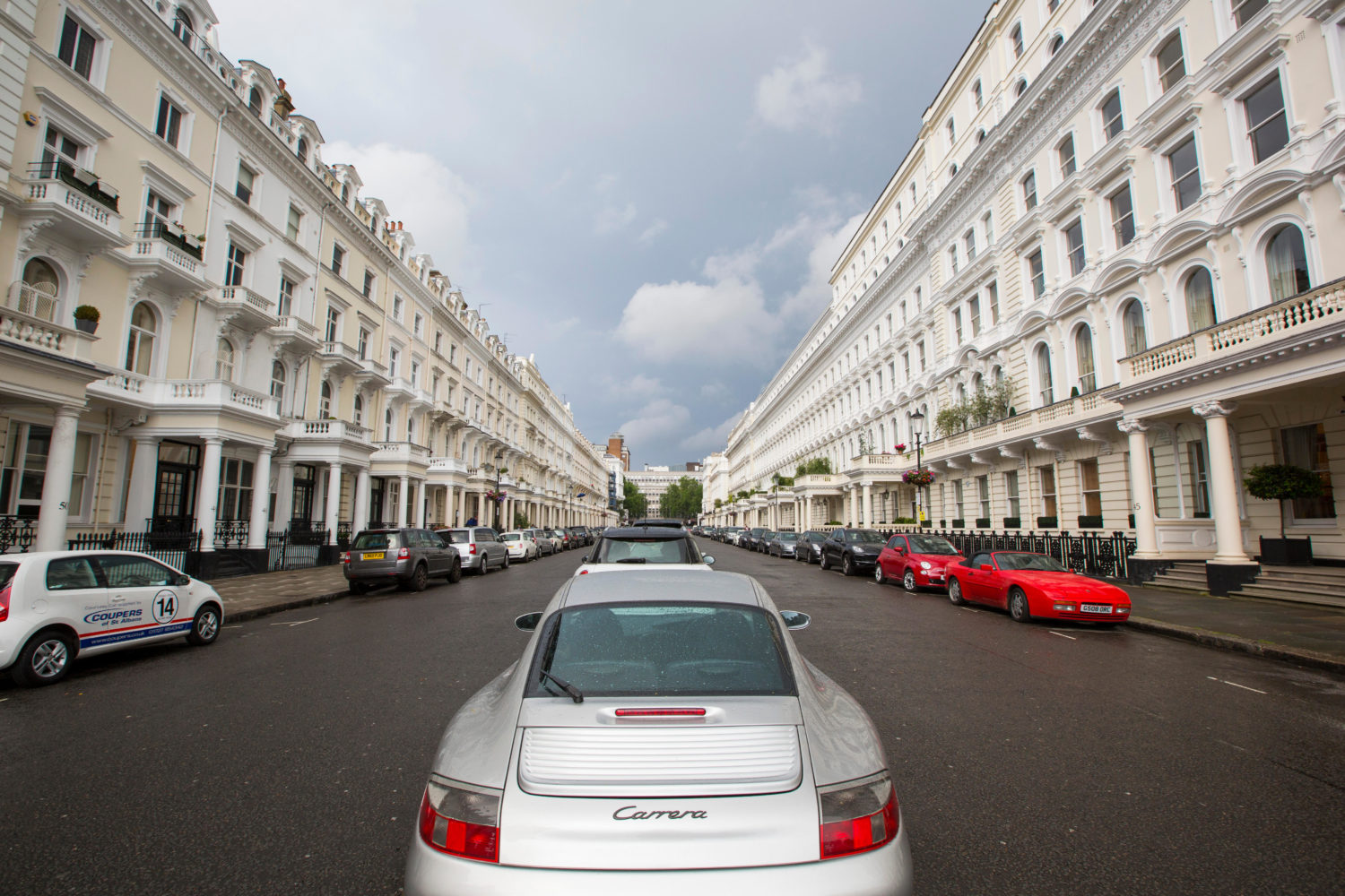 Queens Gate terrace, an exclusive address of very expensive houses in SW7, London, UK.