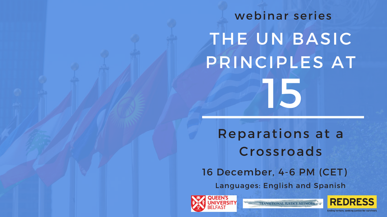 Webinar: The UN Basic Principles at 15: Reparations at a Crossroads