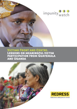 Cover of the Victims Front and Centre report